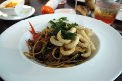 Thai pork spagetti at Moxie