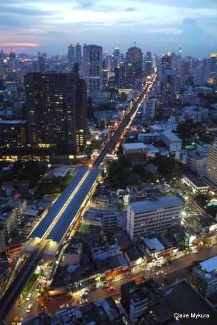Sukhumvit Road from Ocatve Rooftop